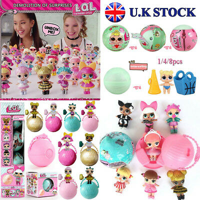 LOL SURPRISE DOLL 1Lil Sisters Ball 7Layers Series Surprise Toys UK Stock 1-8PCS