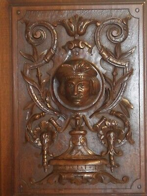 antique french carved architectural panel door wood gentleman N°2
