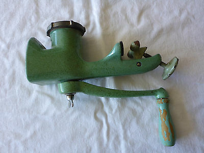 Vintage Meat Mincer Green Enamel, No Makers Name