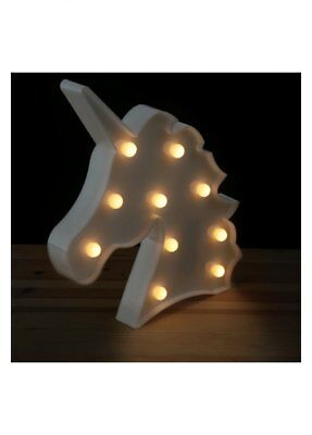 Decorazione Luminosa Led A Forma Di Unicorno Lampada Unuicorn Luce Led19 Camera