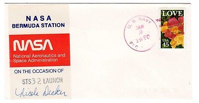 Shuttle 32 NASA Bermuda Tracking & Support SIGNED Souvenir Envelope
