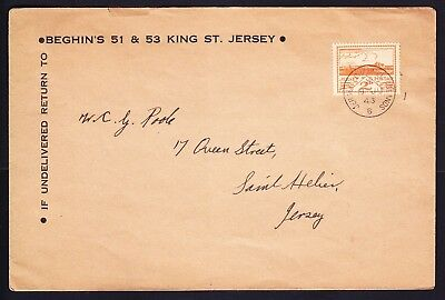 GB JERSEY 1943 2d orange First Day Cover - 8th June 1943 - fine