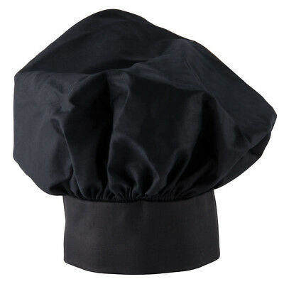Chef Hat Black Cloth One Size Fit All Free Shipping Usa Only