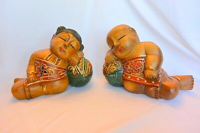 Wooden Statues, The Sleeping Children of Bodhisattva Guanyin