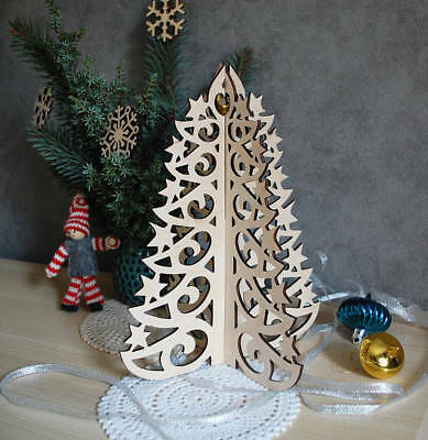 5 Christmas tree DXF DWG and EPS  File For CNC Plasma, Router, water jet, laser