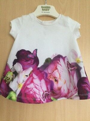 Ted Baker Baby Girls Top Age 3 / 6 Months !