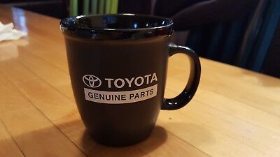 TOYOTA CAR GENUINE  PARTS PROMO CERAMIC COFFEE MUG CUP  black
