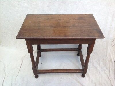 "Very Fine Early Oak Georgian Side Hall Table C1720 30""x 18""x27"" RRP £750"