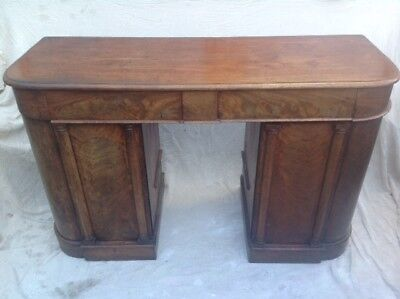 William IV Regency Spanish Figured Flame Mahogany Pedestal Sideboard RRP £1000