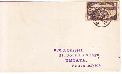 BRUNEI 1930 COVER 6c. TO UMTATA SOUTH AFRICA