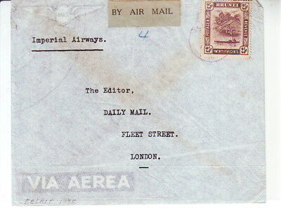 Brunei 1935 By Airmail Belait To London