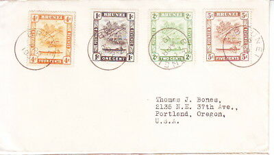 Brunei 1936 Cover From Brunei To Oregon Usa