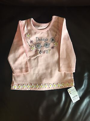 BNWT Baby Girl 3-6 Months Pink Long Sleeved T Shirt