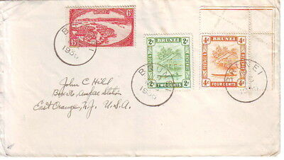 Brunei 1936 Cover From Brunei To New Jersey Usa