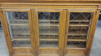 Lighted Wood China Cabinet