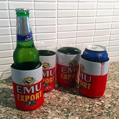 4x Emu Export Stubby Holders - NEW ORDERS POSTED MID JAN - Hat VB