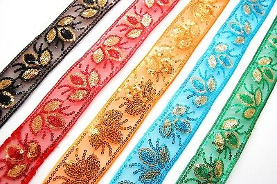 Costumes Iridescent Sequin Lace Ribbon Trim for Carft SILVER Dressmaking ETC.
