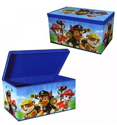 Paw Patrol Large Chase Clothes Laundry Bedding Toy Storage Box Bag Chest Tidy