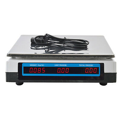 Computing Scale Electronic Price Digital Commercial Food Meat Deli 60 Lbs Weight