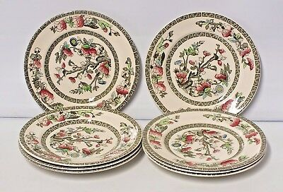 Indian Tree Johnson Brothers set of 6 dessert plates - 20cm diameter