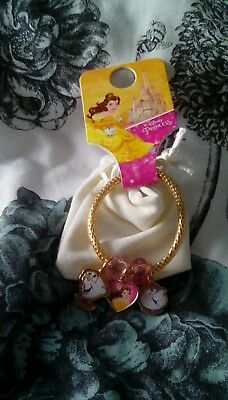 Primark Disney Princess Beauty & The Beast Bracelet Chip, Mrs Potts, Belle