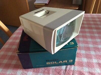 "PHOTAX SOLAR 3 – SLIDE VIEWER – For Colour Transparencies in 2"" x 2"" Mounts"