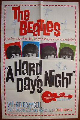 A Hard Day's Night-The Beatles-R.Lester-Rock and Roll-Musical-OS (27x41 inch)
