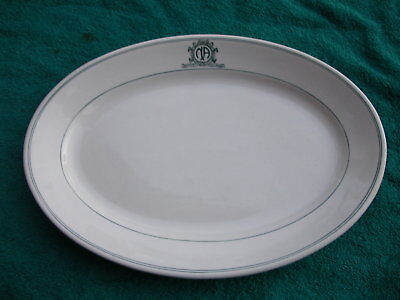 Vtg 1900? Burley & Co Chicago NORTH AMERICAN Greenwood Pottery China Platter