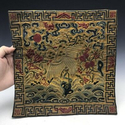 Chinese ancient silk class official embroidery of the xianbird crane design