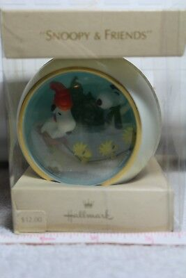 """VINTAGE HALLMARK PANORAMA BALL """"SNOOPY & FRIENDS"""" 3rd IN SERIES COLLECTION 1981"""