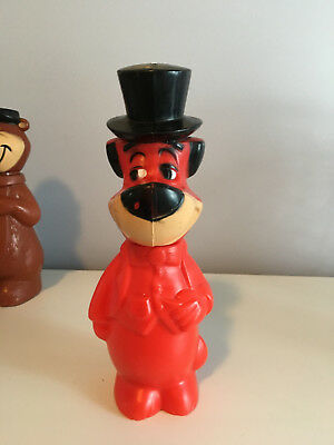 1960S Vintage Huckleberry Hound And Yogi Bear Soap Bottle/bank , Hanna-Barbera