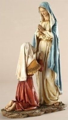 Our Lady of Lourdes Virgin Mary Statue Beautiful Renaissance Figurine Display