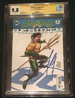 Aquaman: Rebirth #1 • Variant • Cgc Ss 9.8 • Signed & Sketched : Jason Momoa