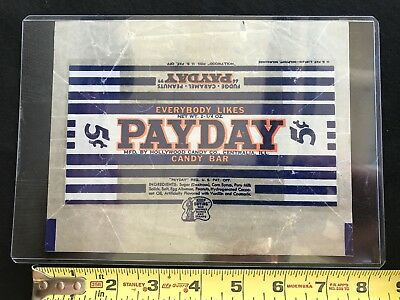 Payday Candy Bar Wrapper Mid 1940's
