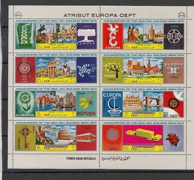 Dec83 YEMEN EUROPA CEPT 1970 MNH STAMPS; PERFECT QUALITY!
