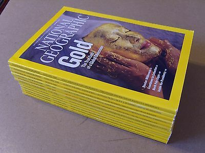 NATIONAL GEOGRAPHIC MAGAZINES 12 Issues from 2009 (Jan to Dec) + ALL SUPPLEMENTS