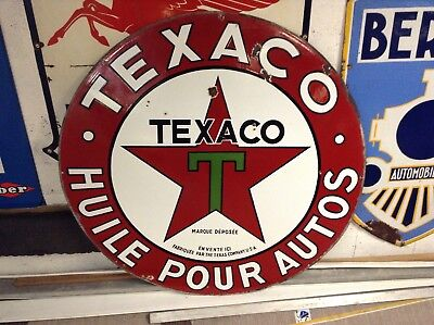 Plaque ancienne texaco emaille