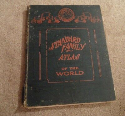 VINTAGE ATLAS: The Standard Family Atlas of The World 1904