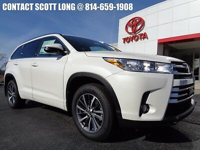 2018 Toyota Highlander New 2018 XLE Nav Sunroof Leather AWD New 2018 Highlander XLE AWD Navigation Heated Leather Sunroof Blizzard Pearl 4WD