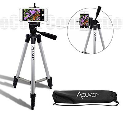 50 Inch Aluminum Camera Smartphone Tripod and Universal Smartphone Mount Compact