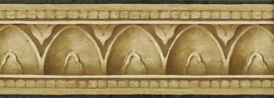 Crown molding Wallpaper Border Faux Stone Architecture Arch Egg Dart Moulding