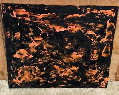 """Original Abstract Canvas Painting 16""""x20"""" Signed D Coleman"""