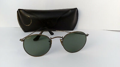 Vintage 80's Ray-Ban Bausch & Lomb W1576 Sunglasses - Round Lens