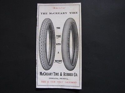 Vintage 1920's McCreary Tire and Rubber Company Catalog Indiana Pennsylvania