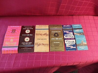 6 Diff.old **********casino Matchbook Covers**********   ***lake Tahoe,nevada***