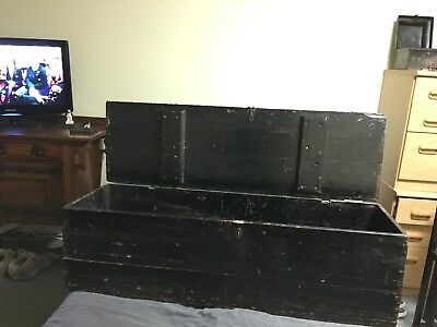 Victorian Plank Made Painted Pine Chest NO RESERVE!!!!