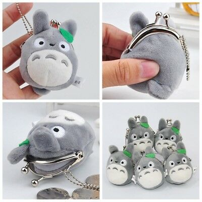 Studio Ghibli My Neighbor Totoro Left Plush Doll Toy Mini Holder Coin Bag Gift