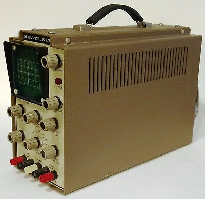 Heathkit IO-17 Oscilloscope Clean and Functional, Manual included 10-17 i0-17