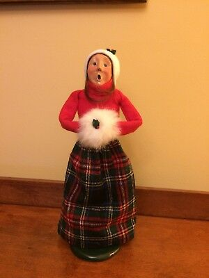 Buyers Choice, The Carolers, 1989,  Woman w/White Muffs, Red Plaid Skirt