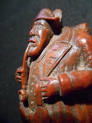 Tabatiere Corozo Grognard Empire Pipe Blague A Tabac Art Populaire Ancienne
